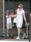 Kelly Rutherford seen spending her day with her children Hermes and Helena in New York City