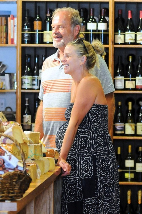 Kelsey Grammer out with his very pregnant wife Kayte