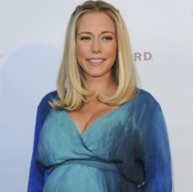 Kendra Is Beautiful in Blue At Alessandra Ambrosio's Collection Launch