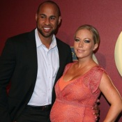 Kendra Wilkinson Showcases Her Tiny Belly At The QVC Red Carpet Style Event