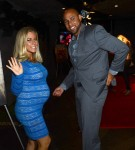 Kendra Wilkinson & husband Hank Baskett party after the Hunger Games premiere