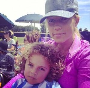 Kendra Wilkinson with son Hank JR