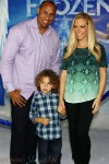 Kendra Wilkinson,Hank Baskett,Hank Baskett IV at Disney  Frozen Premiere