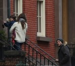 Keri Russell & Shane Dreary out in Brooklyn with their kids Willa and River