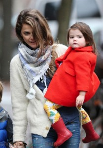 Keri Russell does the school run with daughter Willa