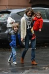 Keri Russell does the school run with daughter Willa & son River