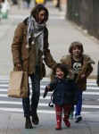 Keri Russell out in Brooklyn with her kids Willa and River