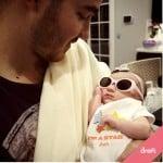 Kevin Jonas with baby Alena - dreft