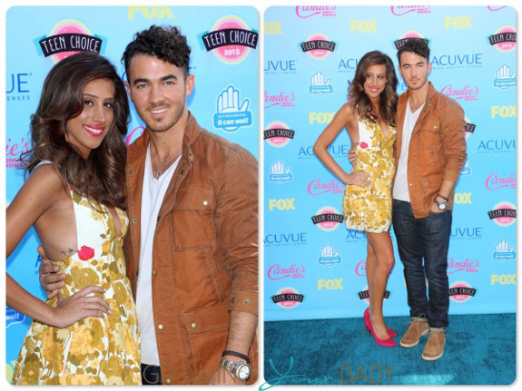 Kevin and Danielle Jonas at the Teen Choice Awards 2013