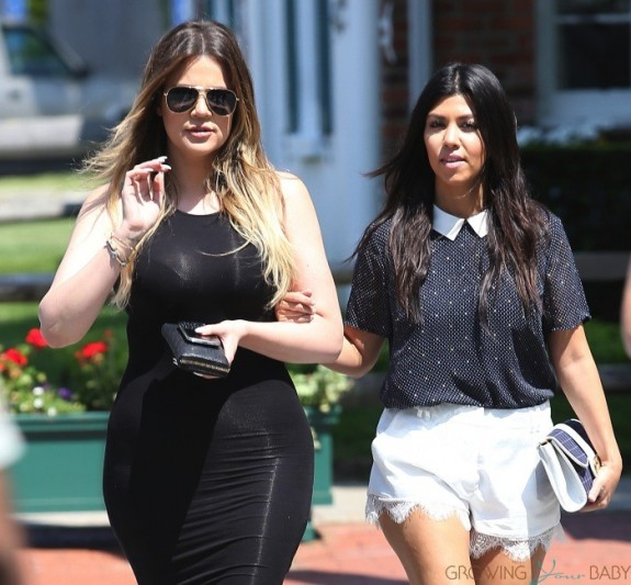 Khloe and Kourtney Kardashian shop in Southampton NY