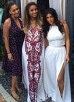Kim Kardashian, Ciara and LaLa Anthony at Ciara's shower