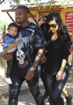 Kim Kardashian and Kanye West at Moorpark Farm Center with daughter North West