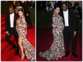 Kim Kardashian and Kanye West at 'PUNK- Chaos to Couture' Costume Institute Gala