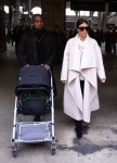 Kim Kardashian and Kanye West in Paris with their daughter North West