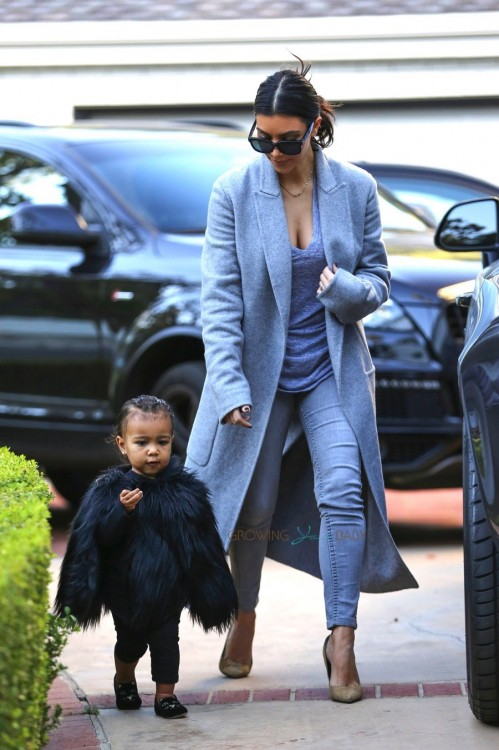 Kim Kardashian and North West at a playdate