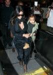 Kim Kardashian and daughter North West At LAX
