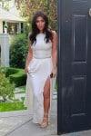 Kim Kardashian arrives at Ciara's Baby Shower