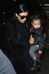 Kim Kardashian at LAX with North West
