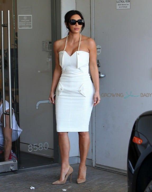 Kim Kardashian attends her bridal shower