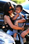 Kim Kardashian out in San Diego with daughter North West