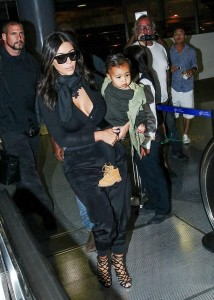 Kim Kardashian with daughter North West At LAX