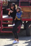 Kim Kardashian with daughter North West at Moorpark Farm