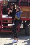 Kim Kardashian with daughter North West at Moorpark Farm