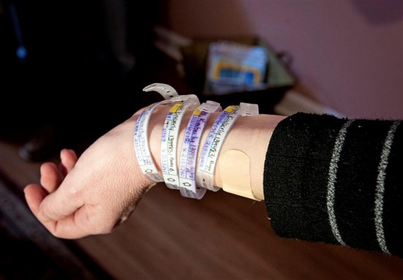 Kimberly Fugate with her wrist bands