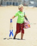 Kingston Rossdale at the beach in Malibu