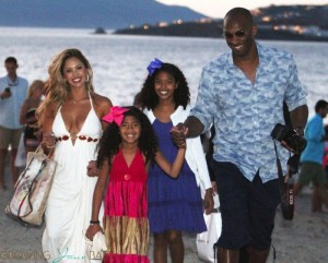 Kobe Bryant with wife Vanessa and daughters Natalia and Gianna in Greece