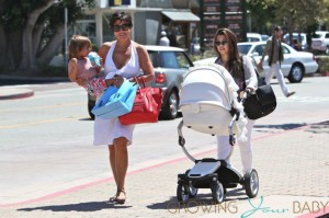 Kourtney Kardashian and Kris Jenner with Mason Mima Xari