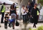 Kourtney Kardashian and Scott DIsick arrive in France with kids Penelope and Mason