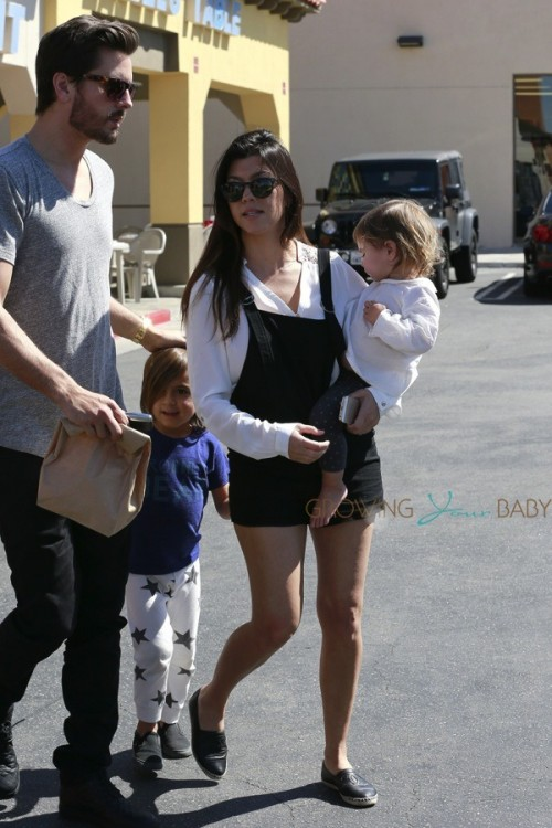 Kourtney Kardashian and Scott Disick out in LA with their kids Mason and Penelope