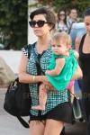 Kourtney Kardashian seen out and about with her daughter Penelope, her son Mason and Scott Disick in Malibu, Los Angeles