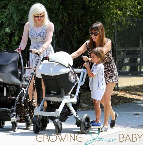 Kourtney Kardashian takes her kids to the Farmer's market