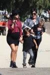 Kourtney Kardashian at Moorpark Farm Center with kids Mason and Penelope Disick