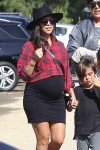 Kourtney Kardashian at Moorpark Farm Center with son Mason Disick