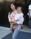 Kourtney Kardashian leaves the Trump SoHo hotel with daughter Penelope Disick