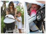 Kourtney Kardashian with Mason and Penelope Disick at the Malibu Market