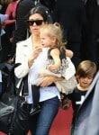Kourtney Kardashian with kids Penelope and Mason in France