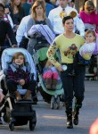 Kourtney Kardashian with son Mason and daughter Penelope at Disneyland