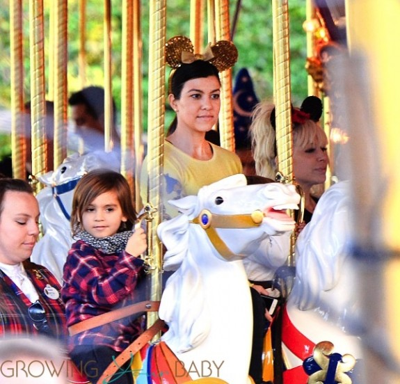 Kourtney Kardashian with son Mason at Disneyland
