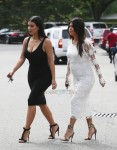 Kourtney & Kim Kardashian Visit Their New York DASH Store