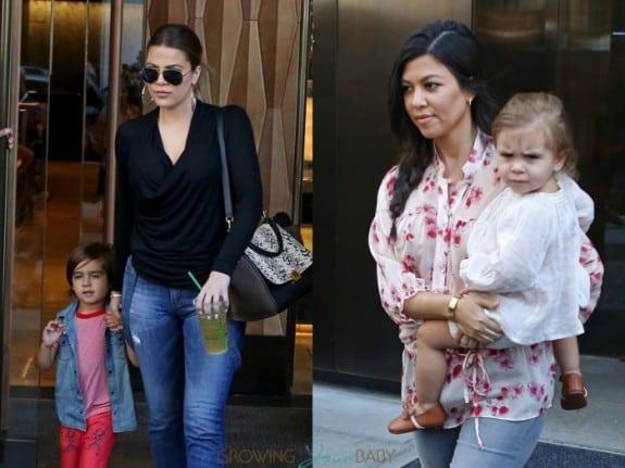 Kourtney and Khloe Kardashian leave the Trump SoHo Hotel NYC