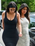 Kourtney and Kim Kardashian Visit Their New York DASH Store