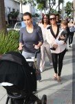 Kourtney and Kim Kardashian out in LA with their girls