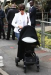 Kris Jenner Departs France with baby North West