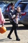 Kris Jenner at Moorpark Farm  with granddaughter Penelope