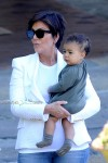 Kris Jenner with baby North West in Italy