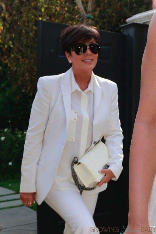 Kris Kardashian arrives at Ciara's Baby Shower